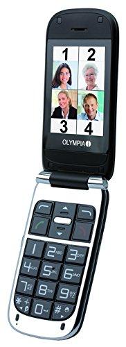 OLYMPIA 2237 Komfort-Mobiltelefon mit Großtasten/Farb-LC-Display Modell Becco Plus schwarz