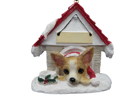 E&S Pets Chihuahua Tan and White Easily Personalized Ornament