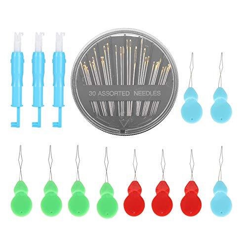 Enhebrador automático de agujas, juego de costura para máquinas de coser domésticas, herramienta de costura, suministros de costura