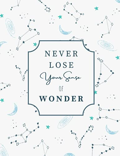 """Notebook: Constellations and Stars - Composition notebook, College Ruled - School notes, journaling, diary - 8.5 x 11"""", 110 pages: Inspirational Quote, Motivation, Astronomy Design"""