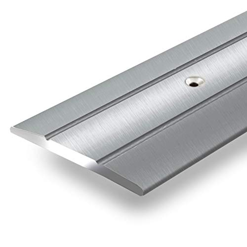 Alu Übergangsprofil Firm | C Form | vorgebohrte Abdeckleiste zum Schrauben | Breite 36 mm | eloxiert Silber | 90 cm