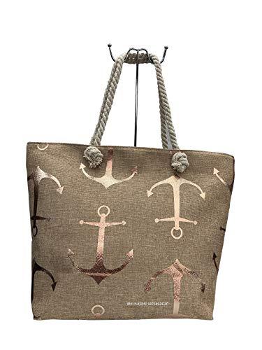 Einkaufstasche, Leinen, Strandtasche XL 50x40x12cm Shopper Reisetasche Yoga Mandala Tasche Sporttasche Sommer Schmetterling (7)