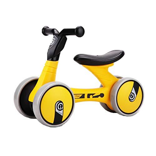 Baby Balance Bike no Pedal Baby voiture Ride sur jouet pour 1-3 années vieux enfants Walker âges 12-36 mois durable tout-petits tricycle enfant premier anniversaire cadeau d'intérieur extérieur,Yellow