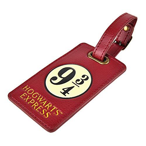 Harry Potter Kofferanhänger Hogwarts Express Gleis 9 3/4 Logo 10x6,3cm rot