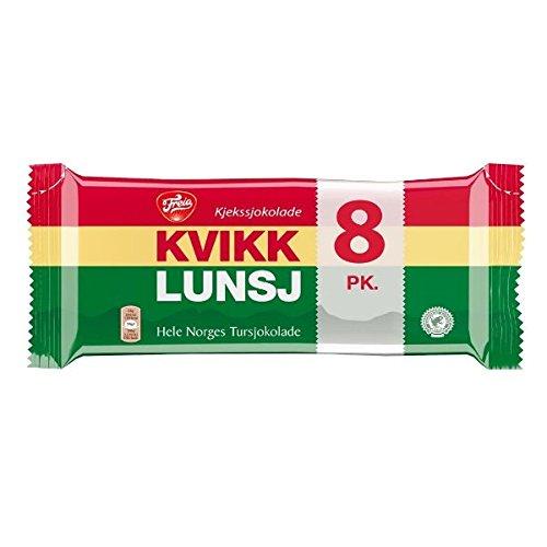 Freia Kvikklunsj – Chocolate Covered Wafers 8-Pack