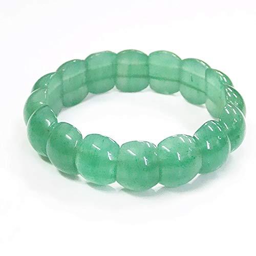 LXMYLI Brazalete con Dije, Brazalete De Jade Dongling Natural Brazalete De Jade Verde (largo18cm)