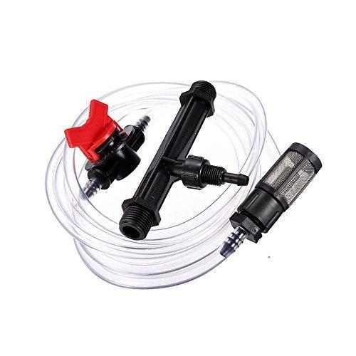 Nirmon Dispositivo de Riego de JardíN 3/4 Kit de Tubo de Agua de Interruptor de Inyector de Fertilizante Venturi