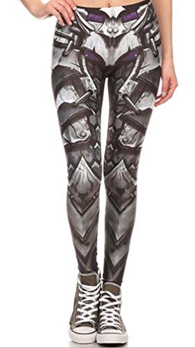 Belsen Damen Deadpool Elastic Leggings Pants Bleistifthosen (Armor)