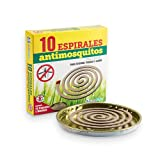 LLPERCOM Pack de 6 x 10 (60 uds Total) de espirales antimosquitos + 6 bandejas. Duración de 6 Horas Cada Espiral. Protección 15 m2. para Zonas Exteriores, terraza y jardín. Espiral de Mosquitos.