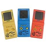 RUIYELE Consola de juegos clsica porttil, juego de bloques de juegos Tetris, juego de rompecabezas, mquina de juego de mano, video, construido en 23 tipos de juegos (color al azar)