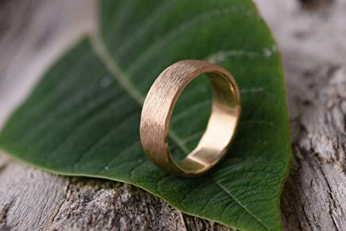 Trauring, gebürsteter Ring, Eheringe Hochzeit, roh, gebürsteter Ring, Man Ring