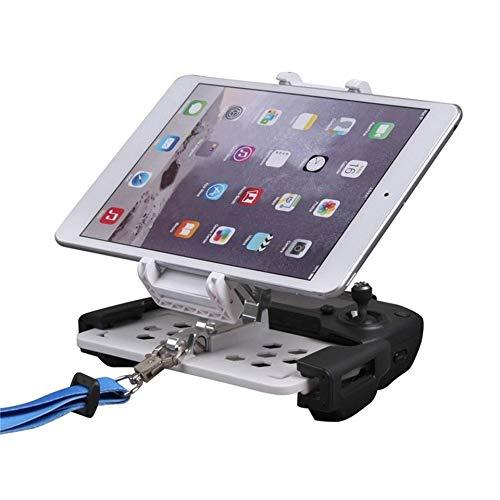 Feteteuki Aplicable para dji Mavic Pro Spark Zoom Control Remoto Soporte para Tableta para teléfono móvil Soporte Soporte de Cuerda telescópico Plegable - Blanco