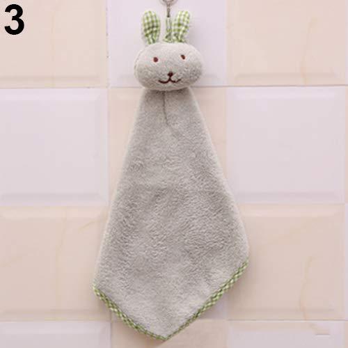 ExhilaraZ - Toalla de mano para bebé, diseño de conejo de peluche
