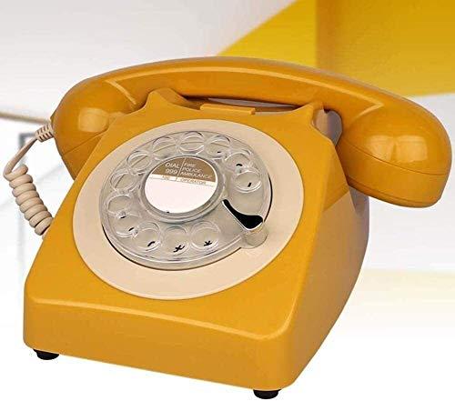 Teléfono Teléfono Inicio Teléfono Vintage Teléfono Retro Teléfono Clásico Teléfono de escritorio Clásico con marcador rotativo Dial Rotary Disc Retro Teléfono retro en el estilo sinuoso del teléfono f