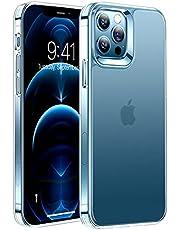 TORRAS 半クリア iPhone 12 用 ケース iPhone 12 Pro 用 ケース 2021開発 マット感 超耐衝撃 米軍MIL規格取得 SGS認証 黄ばみなし 指紋防止 薄型 6.1インチ アイフォン 12Pro用 12用カバー マット・クリア