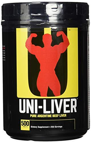 Universal Uni-Liver Gefriergetrocknete Rinderleber 1500mg Aminosäuren B-Komplex Mineralien Spurenelementen 500 Tabletten