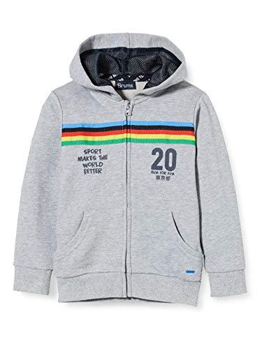Brums Baby-Jungen Top Full Zip F.pa Con Cappuccio Pullover, Grau (Grigio Melange 04 803), 86 (Herstellergröße: 18M)