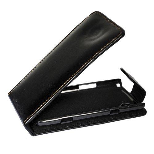 Mobilfunk Krause - Flip Hülle Etui Handytasche Tasche Hülle für Samsung GT-S8500 / S8500 (Schwarz)