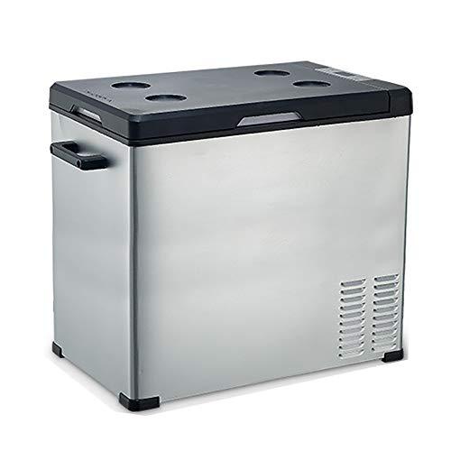 LJJBOX Tragbarer Auto KüHlschrank, Kompressor Autokühlschrank,KüHltruhe,LKW Gefrierschrank,Silver-75L