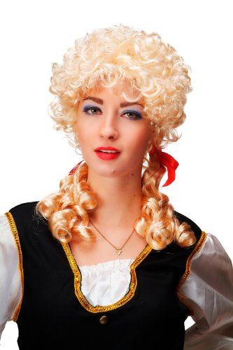 WIG ME UP Carnaval, Perruque, Baroque, Blond, Boucles, Tresses, Style Marie Antoinette, Cosplay, Gothique Lolita 3048-P02