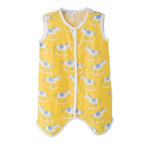 squarex ® Baby Home Kleidung, Kleinkind Baby Jungen Mädchen Ärmellose Baumwolle Gaze Cartoon Jumpsuit Schlafsack Komfortable Kletter Strampler Top