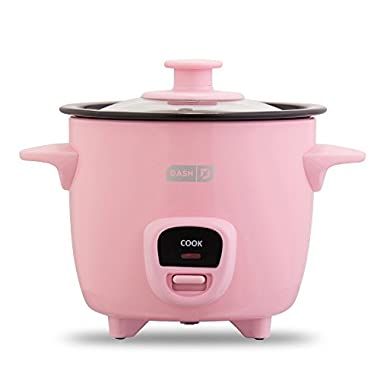 Dash DRCM100XXPK04 Rice Cooker, Pink