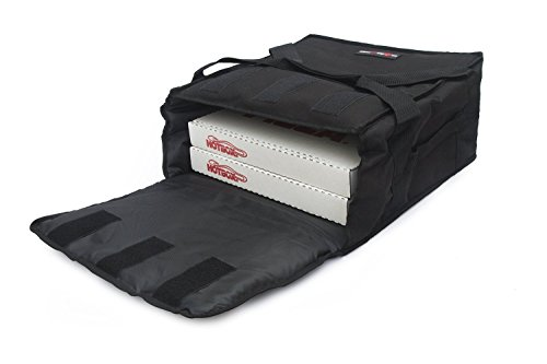 Black Polyester Insulated Pizza / Food Delivery Bag 12″ - 14″- Professional Pizza Delivery Bag-...