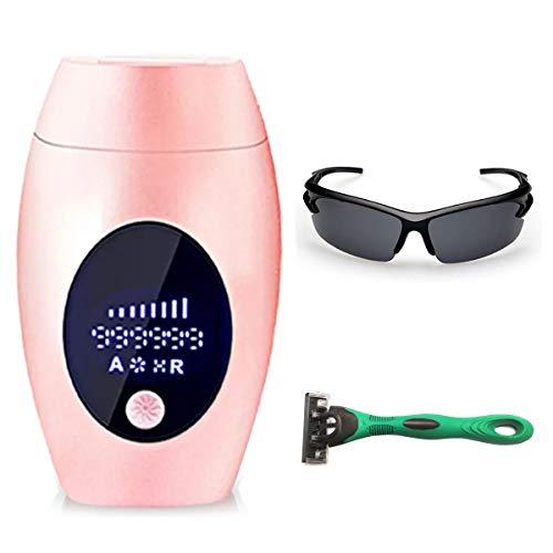 UUCOLOR IPL Haarentfernungsgerät für Damen und Männer dauerhaft schmerzlose Haarentfernung, für Körper und Gesicht, Präzisionsaufsatz für empfindlichere Bereiche, 999,999Blitze(Rosa)