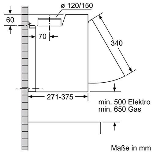 Siemens LE63MAC00 Dunstabzugshaube – Zwischenbauhaube - 7