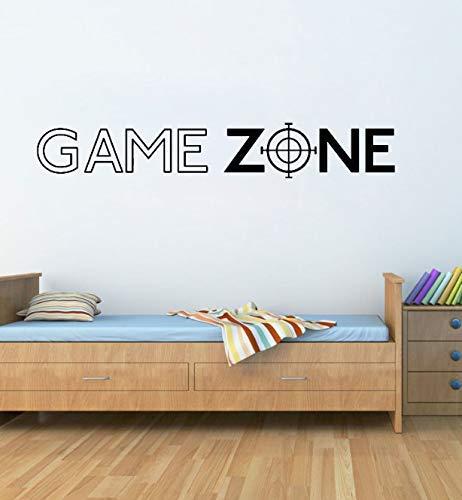 Speelzone spelen Ps3 Ps4 citaat muurkunst sticker aftrekplaatje deur decor hoofddecoratie sticker vinyl muurschildering gamer sticker slaapkamer 57 * 9 cm