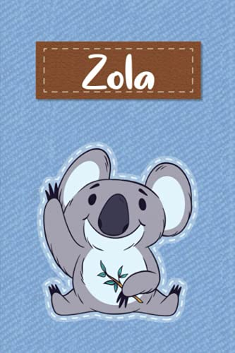 Zola: Lined Writing Notebook for Zola With Cute Koala, 120 Pages, 6x9