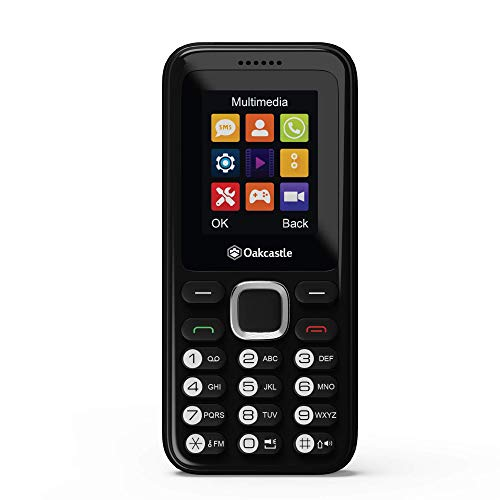 Oakcastle F100 Dual SIM Mini Outdoor Handy ohne Vertrag für Kinder, Senioren/Rentner, günstiges Prepaid Handy mit Tasten, Bluetooth, Mobiltelefon ohne Vertrag, 7 Tage Akkulaufzeit