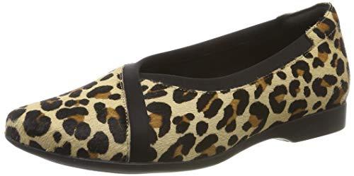 Clarks Un Darcey Ease, Mocasines para Mujer, Multicolor (Leopard PRT Pony Leopard PRT Pony), 37.5 EU