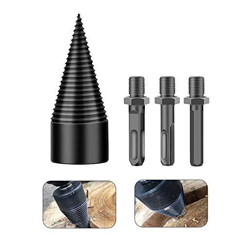 32mmHolzspalterbohrer,SpaltholzkegelHolzspalterbohre,Kegelspalte,Holzspalter Schraube Kegel,Brennholzspalter-Bohrer,Schraube Kegel