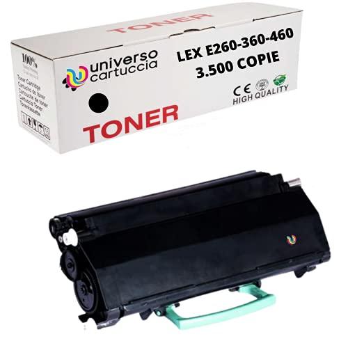 UniversoCartuccia® toner rebuilt E260A21E no oem Compatibile Per stampanti Lexmark E260, E260D, E260DN, E360D, E360DN, E460DN, E460DW,E462DTN 3.500 pagine