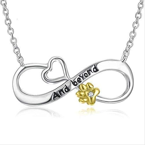 niuziyanfa Co.,ltd Necklace Women S Necklace 8 Words Necklace Women S 925 Silver Jewelry Dog Paw Print Diamond Pendant Women S Jewelry Gift