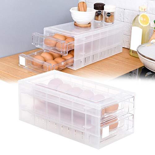 Chen0-super Huevera Huevos Caja de Almacenamiento Antideslizante Huevos Transportador Contenedor para Frigorífico...