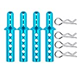 Facibom 4pcs/lot HSP 188037 Aluminum Body Post 08007 108037 for 1/10 RC Monster Truck Exceed EP Infinity Redcat Volcano Epx Pro 94111 ( Color : Blue )