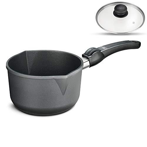 Profi Aluguß Alugusstopf Kochgeschirr Testsieger Aluguss-topf kochtopfset antihaft beschichtet hoch -  Kasserolle mit