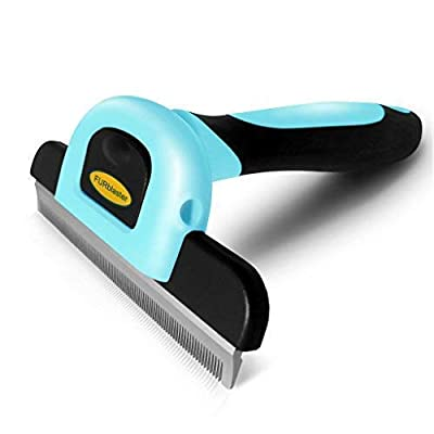 DakPets Pet Grooming Brush Effectively Reduces Shedding by up to 95% Professional Deshedding Tool for Dogs and Cats by DakPets