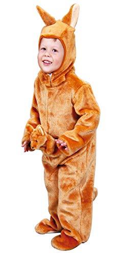Foxxeo Känguru Kostüm für Kinder Kängurukostüm Tier Kinderkostüm Tierkostüm Gr. 98 Größe 98