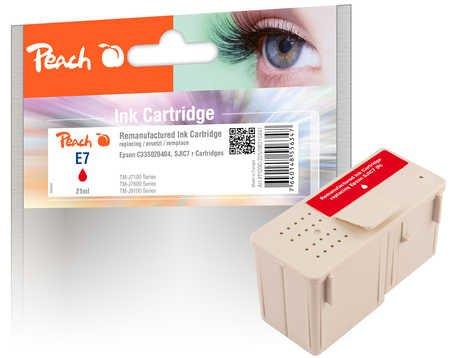 Peach Tintenpatrone rot kompatibel zu Epson C33S020404, SJIC7 red