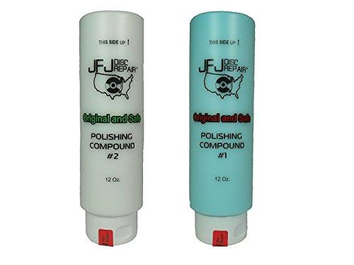 Original JFJ Polish Compound Combo Pack 12oz Blue #1 & White #2 (JFJ Easy Pro, Plus, Single, Double and Armless Compatible)