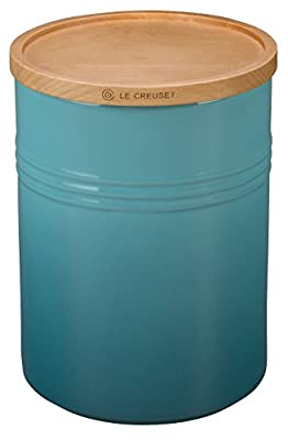"""Le Creuset of America 4"""" Canister with Wood Lid from Le Creuset of America"""