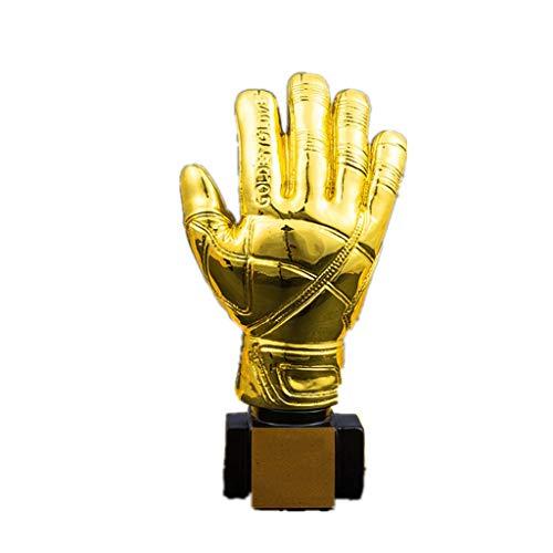 WYDM Estatuas Premio Guante de Oro Portero Premio Trofeo Trofeo for la Ceremonia del Partido apreciación del Regalo del Partido Premios Sport Suministros Recuerdo coleccionables (Color : Gold)