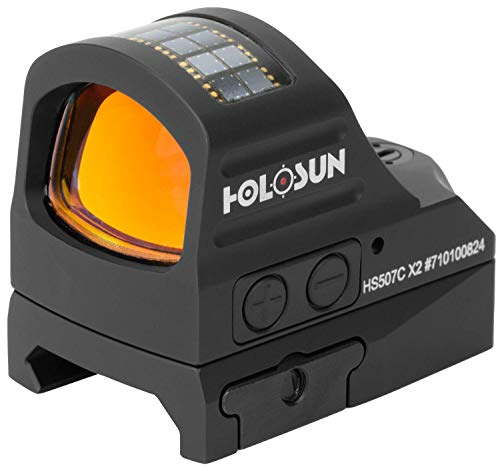 Best variable voltage 510 battery - HOLOSUN HS507C-X2 Classic Multi Reticle Red Dot Sight, Black