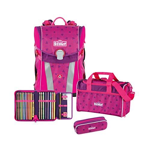 Scout Sunny Schulrucksack Set 4 TLG. Pink Flowers