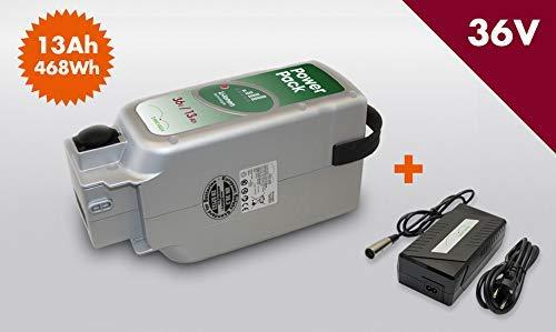 E-BIKE VISION Set Power Pack Ersatzakku Akku für Panasonic Antrieb 36V 13Ah 468 Wh inkl 4Ah Ladegerät