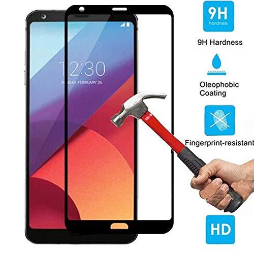 PANGLDT [3 Paquetes] 9H Cubierta Completa de Vidrio Templado para LG G6 G7 V30 Plus K8 K10 2018 K10 K8 2017 Protector de Pantalla Templado para LG G6 película Protectora para LG G6_For LG V30_White