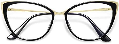 VANLINKER Cat Eye Blue Light Blocking Glasses Anti Eye Strain Women Cute Vintage Computer Eyewear product image